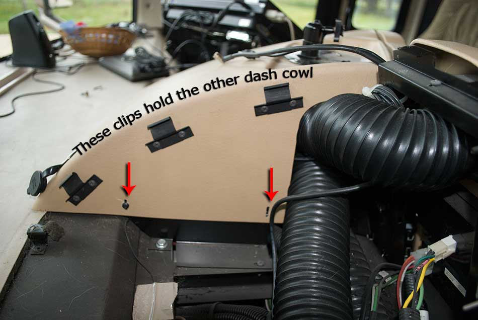 Removing the right side dash cover