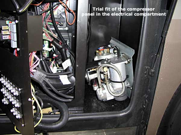 Where to mount the compressor