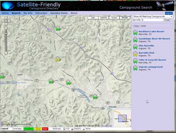 Satellite-friendly database web site