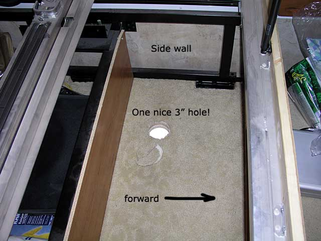 top view of the hole