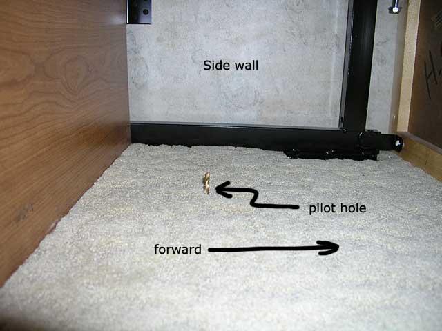pilot hole topside