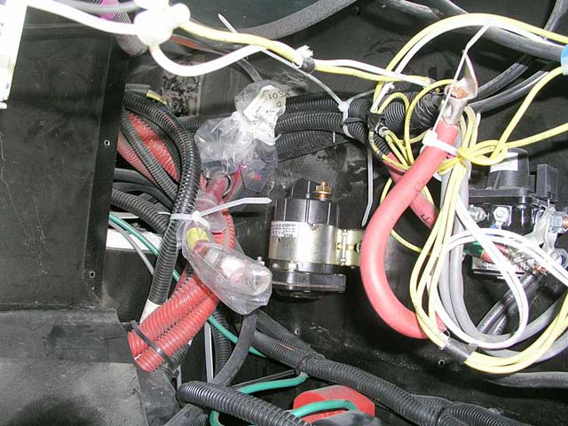 Cables removed from the solenoid and bagged