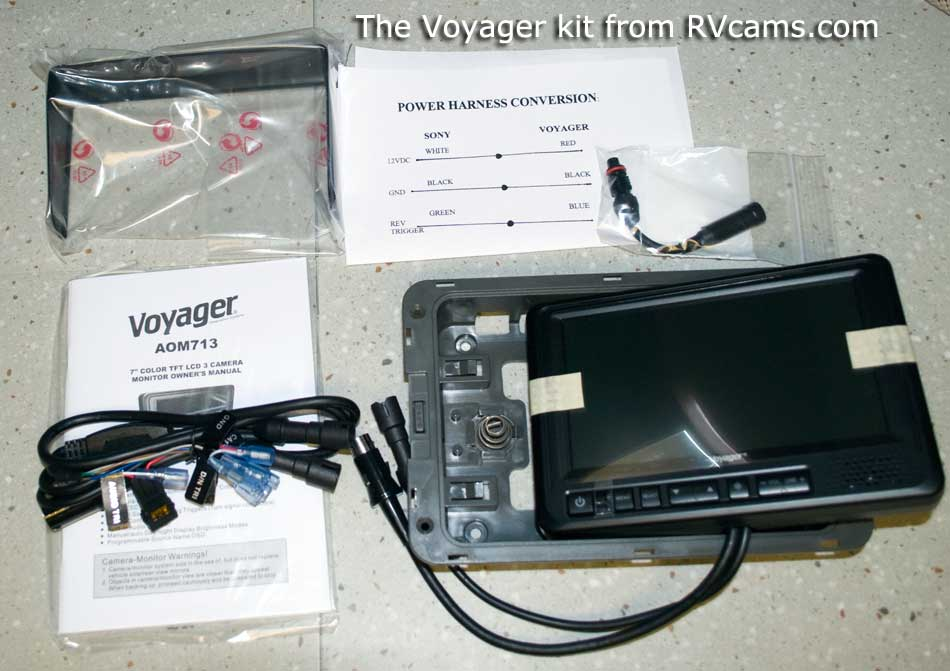 we replace the sony backup cam monitor page 1 rh janeandjohn org Voyager Backup Camera Monitor voyager backup camera wiring diagram