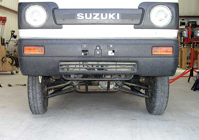 Installation of a G&R Imports lift kit on a 1990 Suzuki Carry